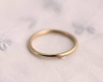 Schlichter goldring  Simple gold ring   Etsy