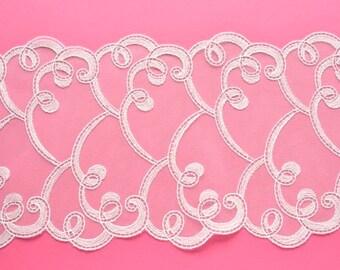 Off White Swirls Design Lace Trim, Off White Lace, Wedding Lace, Wedding Dress, Wedding Sash, White Lace Decor