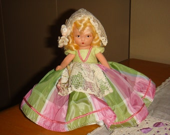 Nancy Ann Story Book Doll #169 Goose Girl Frozen Leg Moveable Arms Circa 1930
