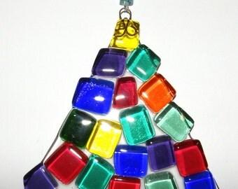 Christmas Tree Glass Ornament