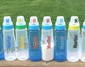 Daycare Labels - Baby Bottle Labels - DIY Name Decals  - Set of 8 First Name and 8 First Initial Decals - School Labels - Name stickers