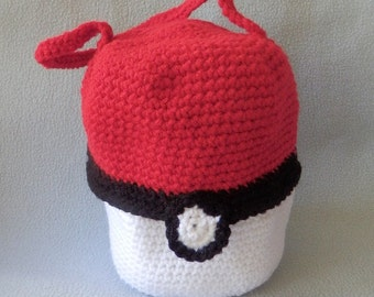 Made to order, Hand crocheted Pokemon Ball Purse Bag Carry Case for Dolls