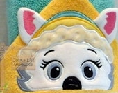 Snowplow Pup (Everest) from Paw Patrol with 3-D Ears Hooded Towel!