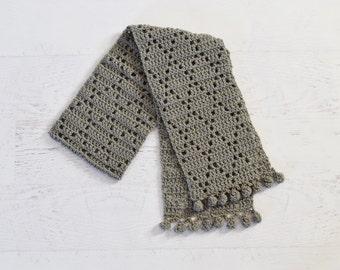 Crochet Scarf PATTERN - The Dancing Diamond Scarf - winter neck warmer accessories for women handmade PDF pattern