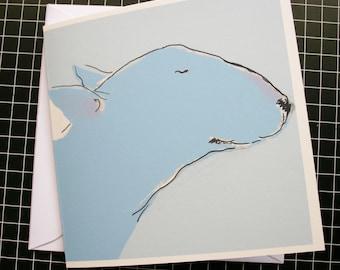 Bull Terrier Card - Bliss Birthday Blank Card