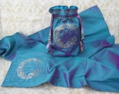 Waning Crescent Moon Altar Cloth only