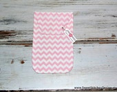 Baby Girl Diaper Clutch - Baby Diaper Holder - Pink Chevron Diaper Clutch