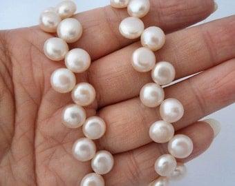 """6"""" cornsilk-Genuine fresh water Pearl beads"""