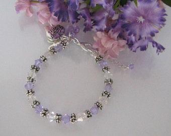 Violet Flower Girl Bracelet-Junior Bridesmaid Bracelet-Wedding Party Bracelet-Custom Flower Girl Bracelet-Flower Girl BraceletPurple Wedding