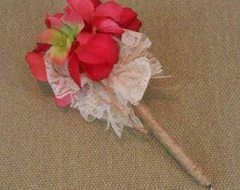 Shabby Hydrangea Guest Book Pen / Wedding Sign In Pen / Flower Pen / Wedding Flower Pen / Wedding Decorations / Pink Hydrangea Flower Pen