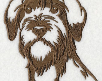 I Love My Wirehaired Pointed Griffon Embroidered Flour Sack Hand/Dish Towel