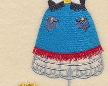 Howdy Partner Dress Form Embroidered Flour Sack Hand/Dish Towel