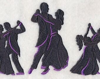 Ballroom Silhouette Dance Fashion Dancing - Embroidered Flour Sack Hand/Dish Towel
