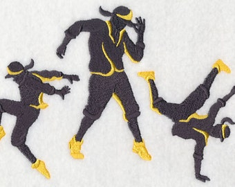 Hip Hop (Male) Silhouette Dance Fashion Dancing - Embroidered Flour Sack Hand/Dish Towel