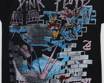 Pink Floyd Tour Shirt 1987 Vintage Tshirt 1980s A Momentary Lapse Of Reason 80s