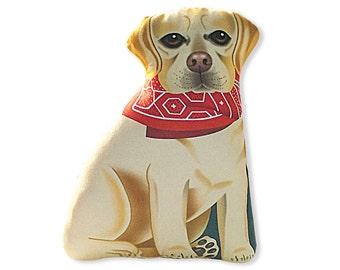 Yellow Labrador Retriever -  Front only - Dog Pillow - Stuffed Animal