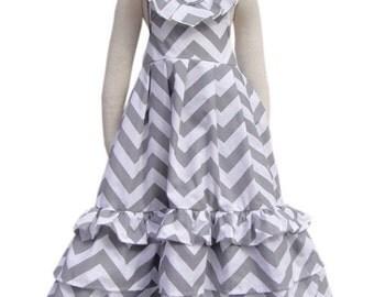 Grey chevron maxi dress 5/6