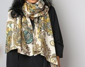 Paisley Scarf / Scarf / Cotton Satin Scarf : Nature Touch Collection