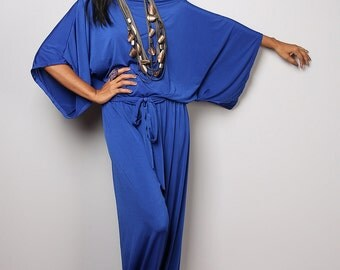 Blue Jumpsuit - Royal Blue Jumper Maxi Dress : Chic & Casual Collection