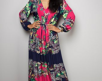 Maxi Dress - Long Sleeved Boho Dress : Funky Elegant Collection no 22