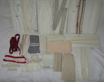 Box of Vintage Lace, Trim, BricBrac, Edging and More!