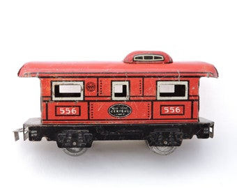 Vintage Marx New York Central Lines Caboose Train Car - Metal Tin Litho Train - O Scale Gauge