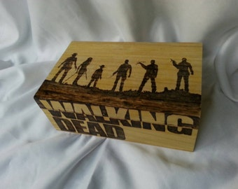 The Walking Dead based woodburned box