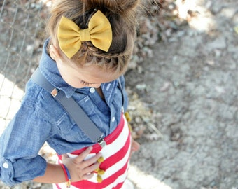 New { the Katie } mustard bow or headband . Newborn, toddler, child, teen, adult