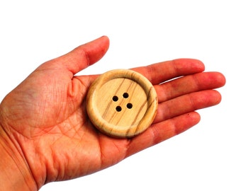 Large wooden buttons 5cm, giant wooden buttons, natural wood buttons, large coat buttons, 2 inch buttons, 50mm buttons, UK sewing supplies