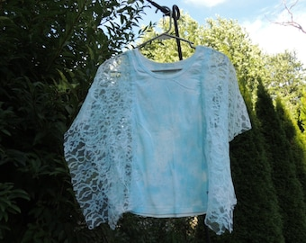 Sale Bohemian Top .  Upcycled clothing . Boho Lace Top . Hippie Top . Upcycled Top . By Intrigues