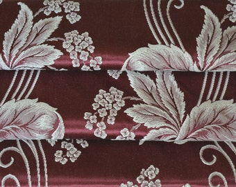 """Satin Brocade Curtain Panel, Mint Condition, Reversible, 46""""w. x 76"""" l."""