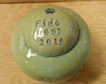 MADE TO ORDER - Medium Size Dog Urn, Personalized Dog Urn, Keepsake Dog Urn