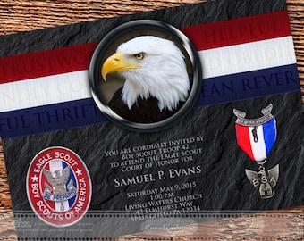 Eagle Scout Court of Honor invitation BSA invitation Eagle