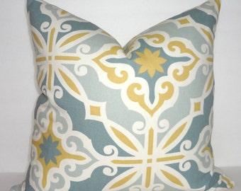 Harford Saffron Macon Geometric Print Pillow Covers Decorative Grey Gold Throw Pillow Covers Choose Size