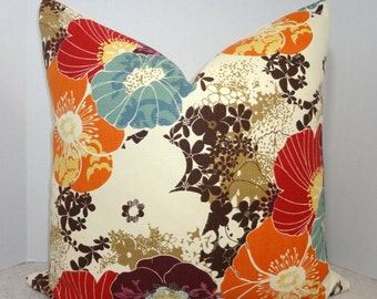 NEW Richloom Amelia Graffiti Pillow Cover Purple Blue Brown Orange Decorative Floral Throw Pillow Covers Choose Size
