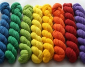 Rainbow mini skein set - Sustainably grown merino fingering weight yarn