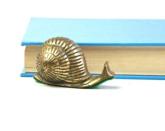 Vintage Mini Brass Snail