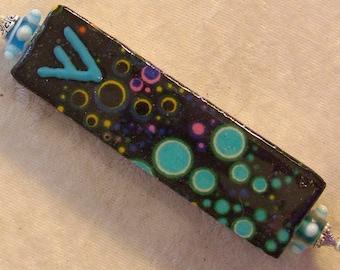 Mezuzah - Blue Bubbles with Lampwork Beads