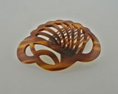 Faux Tortoise Shell Hair Comb Made in France.