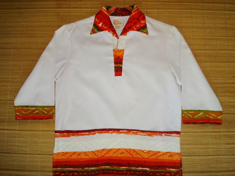 Vintage 70s iolani rainbow hawaii hawaiian shirt m the for The hawaiian shirt company