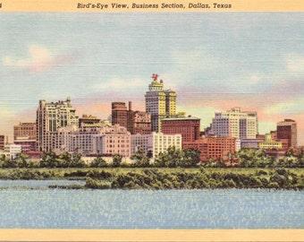 Dallas, Texas, Business Section - Linen Postcard - Unused (C1)