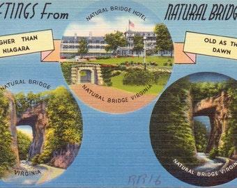 Natural Bridge, Virginia - Vintage Postcard - Postcard - Unused (M1)