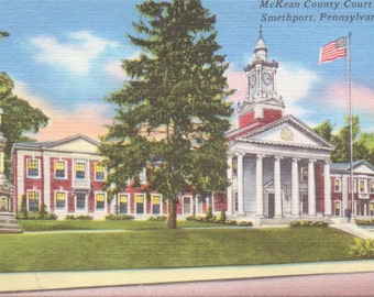 Smethport, Pennsylvania, McKean County Court House - Vintage Postcard - Postcard - Unused (A11)
