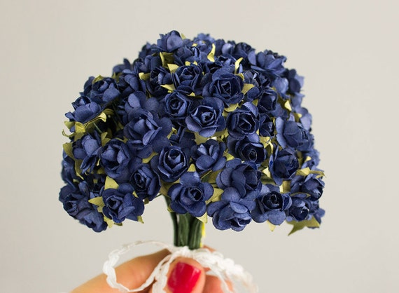 144 paper roses navy blue 12 dozen flowers bridal for 12 dozen roses at your door
