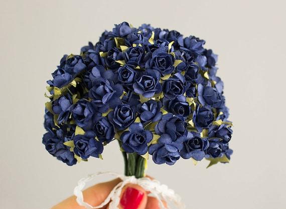 144 Paper Roses / Navy Blue / 12 Dozen Flowers / Bridal ...