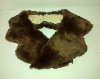 Vintage sheared beaver fur collar , dress , coat design , seamstress