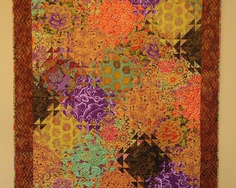 Autumn Song--Private Listing Kaffe Fassett inspired quilt
