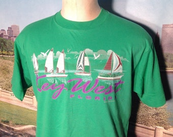 Late 80's, early 90's Key West t-shirt, large
