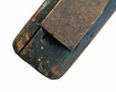 Vintage 1800s Fine Natural Hone Sharpening Stone.Original Wooden Holder, Great patina,