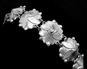 Vintage Los Castillo Taxco Mexico Mexican Sterling Silver Bracelet 21289